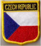 Czech Republic Embroidered Flag Patch, style 07.